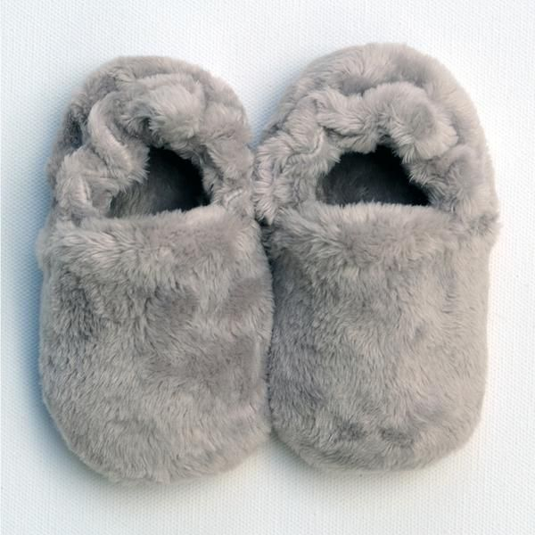 Poco Nido Grey Fluffy Shoes