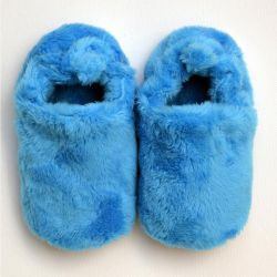 Poco Nido Blue Fluffy Shoes