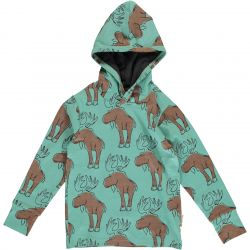 Maxomorra Mighty Moose Hooded Top