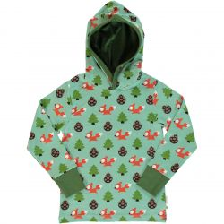 Maxomorra Busy Squirrel Hooded Top