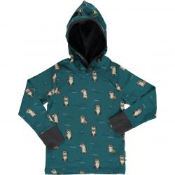 Maxomorra Curious Otter Hooded Top