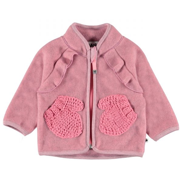 Molo Uli Bubble Pink Fleece Jkt