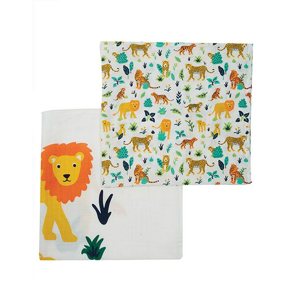 Frugi Big Cat 2 Pack Muslin
