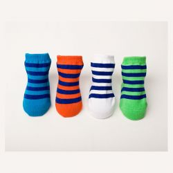 Baberoo Nautical Stripe Socks Pack of 4