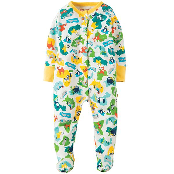 Frugi Animal Map Babygrow