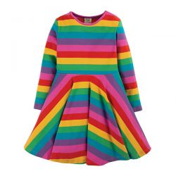 Frugi Rainbow Stripe Skater Dress