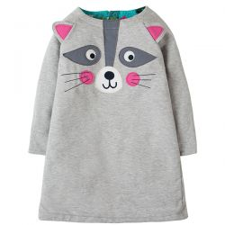 Frugi Peek a Boo Raccoon Dress