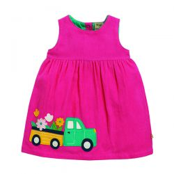 Frugi Lily Cord Flower Truck Dress