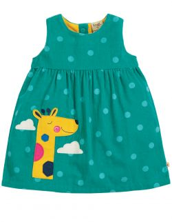 Frugi Lily Cord Giraffe Dress