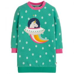 Frugi Eloise Unicorn Jumper Dress