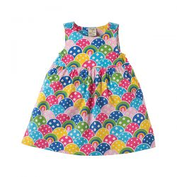 Frugi Rainbow Little Party Dress