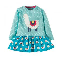 Frugi Hetty Llama Leap Dress