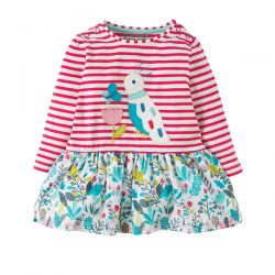 Frugi Hetty Breton Bird Dress
