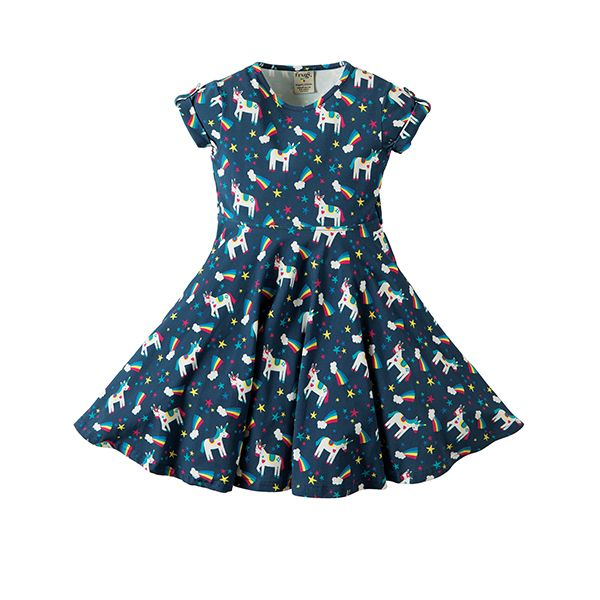 Frugi Magic Rainbow Skater Dress