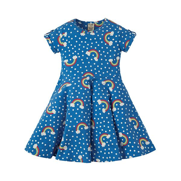 Frugi Over the Rainbow Skater Dress