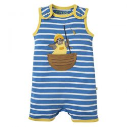 Frugi Lundy Breton Seal Dungaree