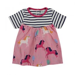 Lilly & Sid Stripe Carousel Baby Dress