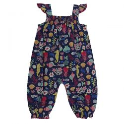 Lilly & Sid Sea Print Dungarees