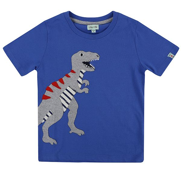 Lilly & Sid Blue Dino T-Shirt