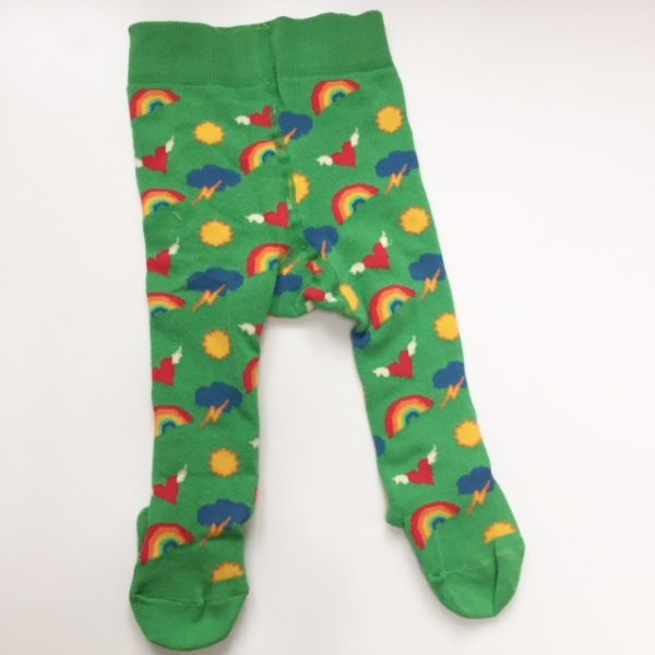 Slugs & Snails Green Rainbow Tights