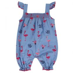 Lilly & Sid Flamingo Short Dungaree