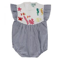 Lilly & Sid Sea Yoke Sunnysuit