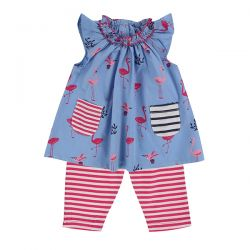Lilly & Sid Flamingo Dress Set