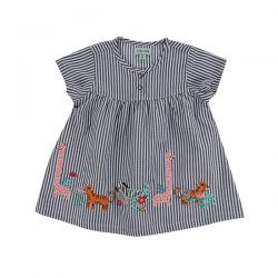 Lilly & Sid Applique Hem Dress