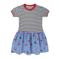 Lilly & Sid Flamingo Stripe Dress