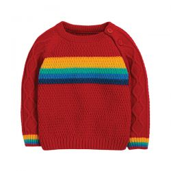 Frugi Caleb Rainbow Knit Jumper