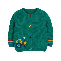 Frugi Cuddly Knitted Tractor Cardigan