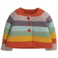 Frugi Cute As A Button Stripe Cardigan