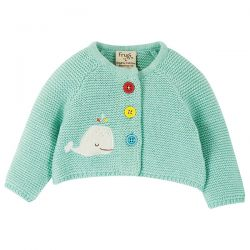 Frugi Cute As Button Whale Cardigan