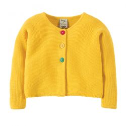 Frugi Ceira Yellow Cardigan