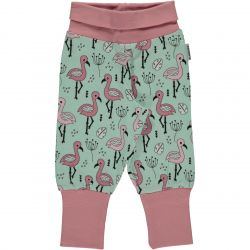 Maxomorra Flamingo Rib Pants