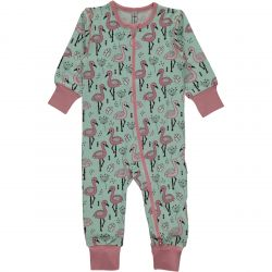 Maxomorra Flamingo Zip Romper
