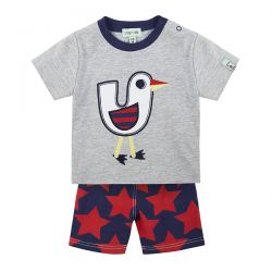 Lilly & Sid Duck Woven Short Set