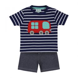 Lilly & Sid Bus Chambray Short Set