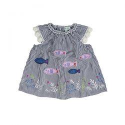 Lilly & Sid Fish Stripe Dress