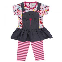 Lilly & Sid Cat Dress and Legging Set