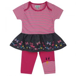 Lilly & Sid Chambray Flamingo Set