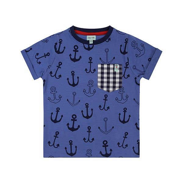 Lilly & Sid Anchor Print T-Shirt