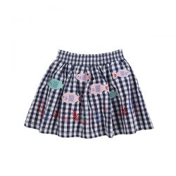 Lilly & Sid Fish Check Skirt