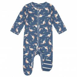 Piccalilly Narwhals Sleepsuit