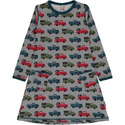 Maxomorra Truck Print Dress