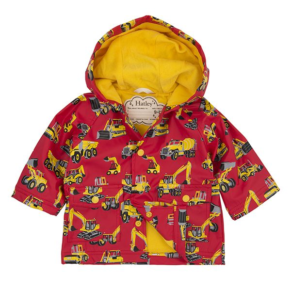 Hatley Heavy Machines Baby Raincoat