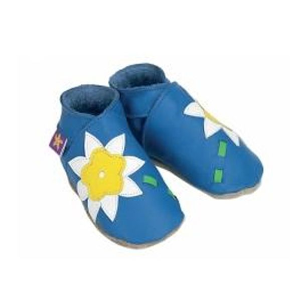 Starchild Blue Flower Leather Shoes