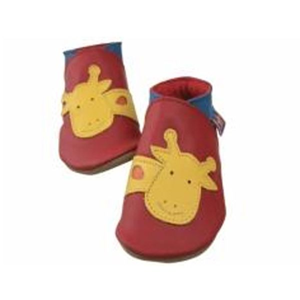 Starchild Red Giraffe Leather Shoes