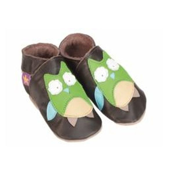 Starchild Brown Owl Leather Shoes