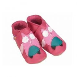 Starchild Pink Owl Leather Shoes